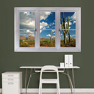Desert Cactus: Instant Window Fathead Wall Decal
